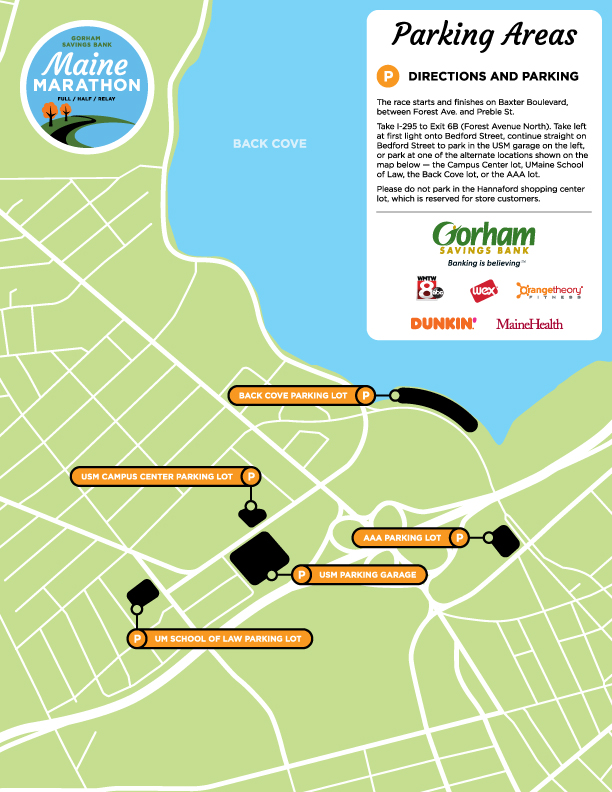 2019 main marathon PARKING MAP