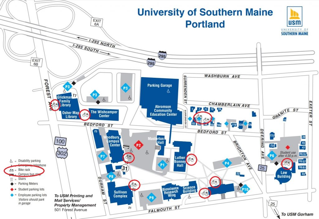 university of southern maine portland campus map Directions Parking Maine Marathon university of southern maine portland campus map